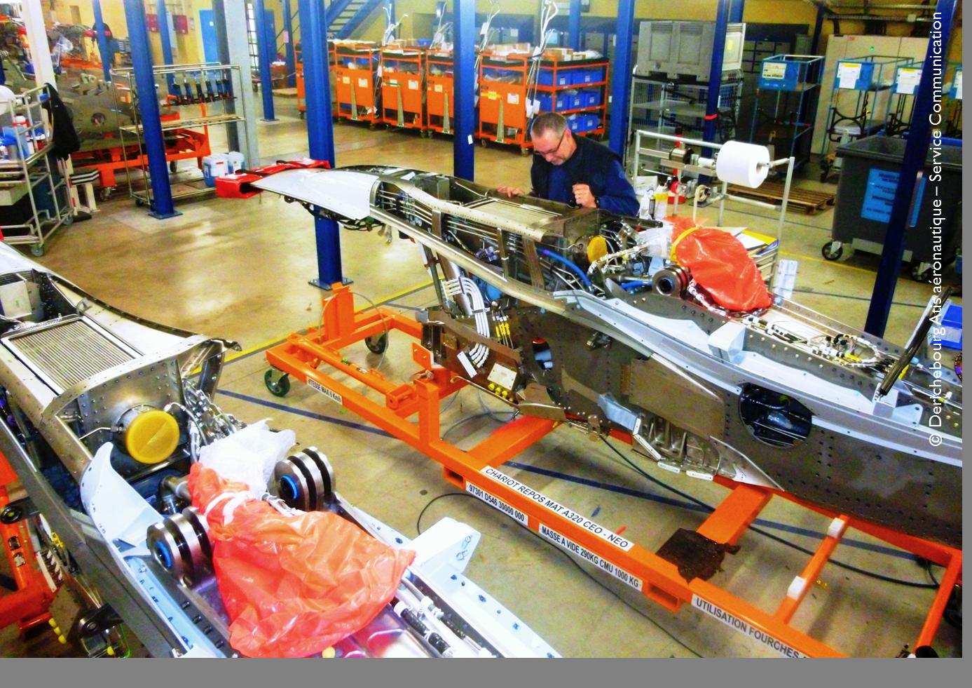 Intervention sur mats moteur - Production - Site de Airbus Saint-Eloi